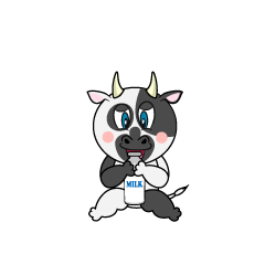 Drinking Cow Cartoon