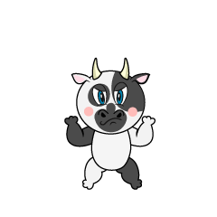 Angry Cow Cartoon
