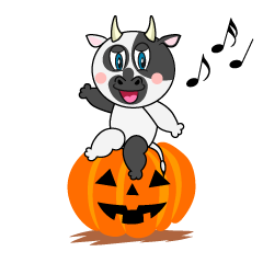 Halloween Cow Cartoon