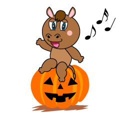 Halloween Horse Cartoon