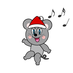 Santa Mouse Cartoon