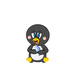 Eating Penguin Cartoon