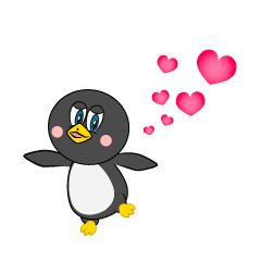 Love Penguin Cartoon