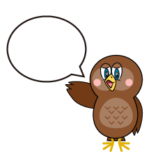Speaking Owl Cartoon