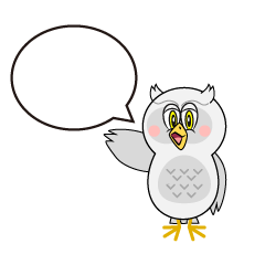 Speaking White Owl Cartoon
