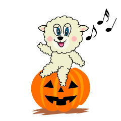 Halloween Sheep Cartoon