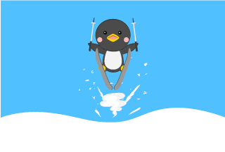 Ski jump Penguin Cartoon picture
