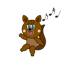 Dancing Squirrel Cartoon