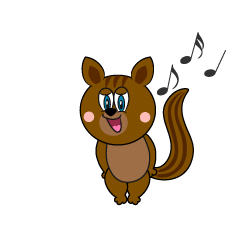 Singing Squirrel Cartoon