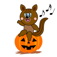Halloween Squirrel Cartoon