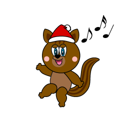 Santa Squirrel Cartoon