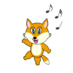 Dancing Fox Cartoon