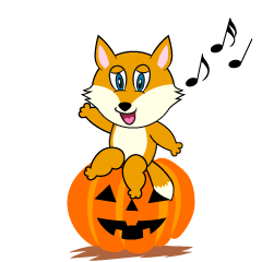 Halloween Fox Cartoon