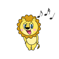 Singing Lion Cartoon