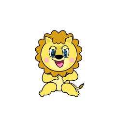 Sitting Lion Cartoon