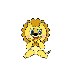 Eating Lion Cartoon