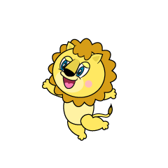 Jumping Lion Cartoon