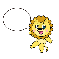 Speaking Lion Cartoon
