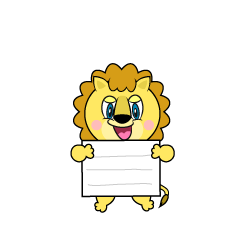 Lion with a Board Cartoon