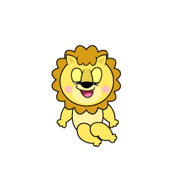Relaxing Lion Cartoon