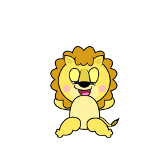 Dozing Lion Cartoon