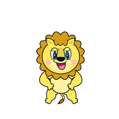 Confidently Lion Cartoon
