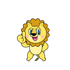 Thumbs up Lion Cartoon