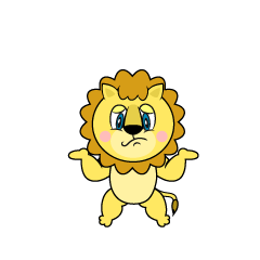 Troubled Lion Cartoon