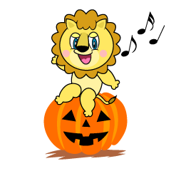 Halloween Lion Cartoon