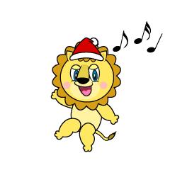 Santa Lion Cartoon