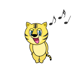 Singing Tiger Cartoon