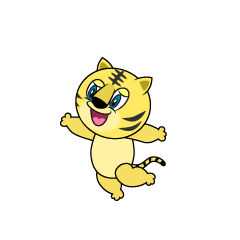 Jumping Tiger Cartoon