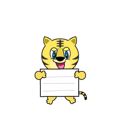 Tiger with a Board Cartoon