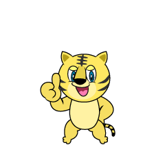 Thumbs up Tiger Cartoon