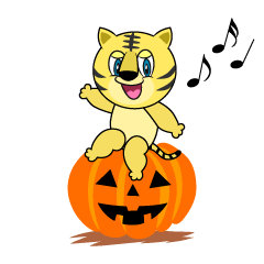 Halloween Tiger Cartoon