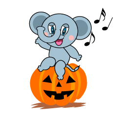 Halloween Elephant Cartoon