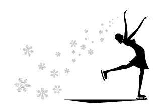 Snow Crystals and Figure Skating Graphics