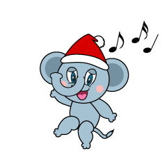 Santa Elephant Cartoon