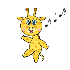 Dancing Giraffe Cartoon