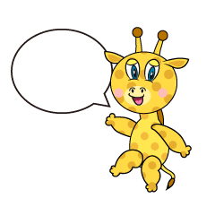 Speaking Giraffe Cartoon