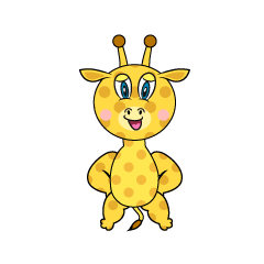 Confidently Giraffe Cartoon