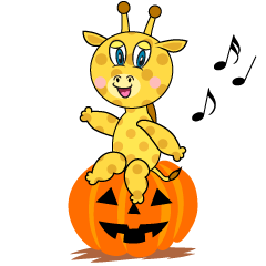 Halloween Giraffe Cartoon