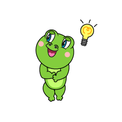 Frog coming up with an idea Cartoon