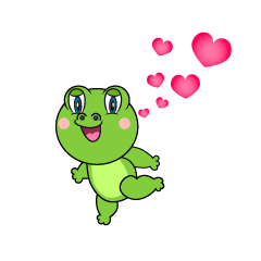 Love Frog Cartoon