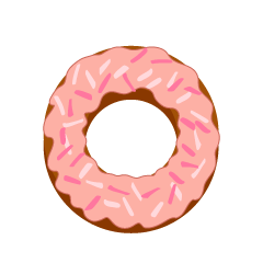 Strawberry Chocolate Donut Clipart