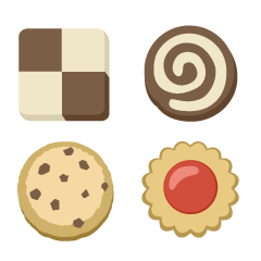 Four Cookies Clipart