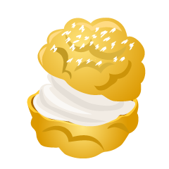 Cream Puff Clipart