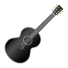 Black Acoustic Guitar Clipart
