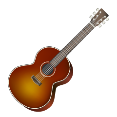 Brown Acoustic Guitar Clipart
