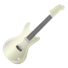 White Electric Guitar Clipart